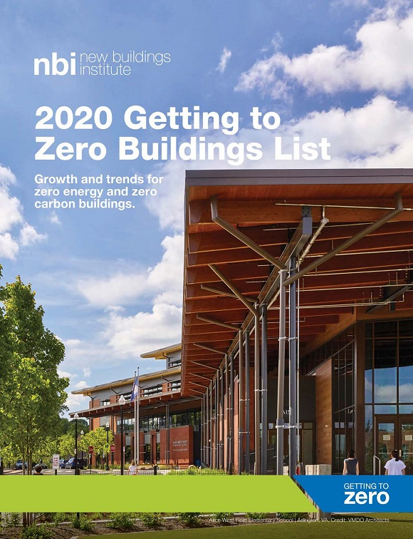 Cover of 2020 Getting to Zero Buildings List report