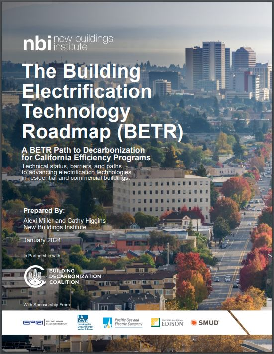 cover of building electrification technology roadmap (BETR)